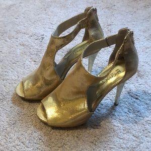 Michael Kors Gold Heels Size 8